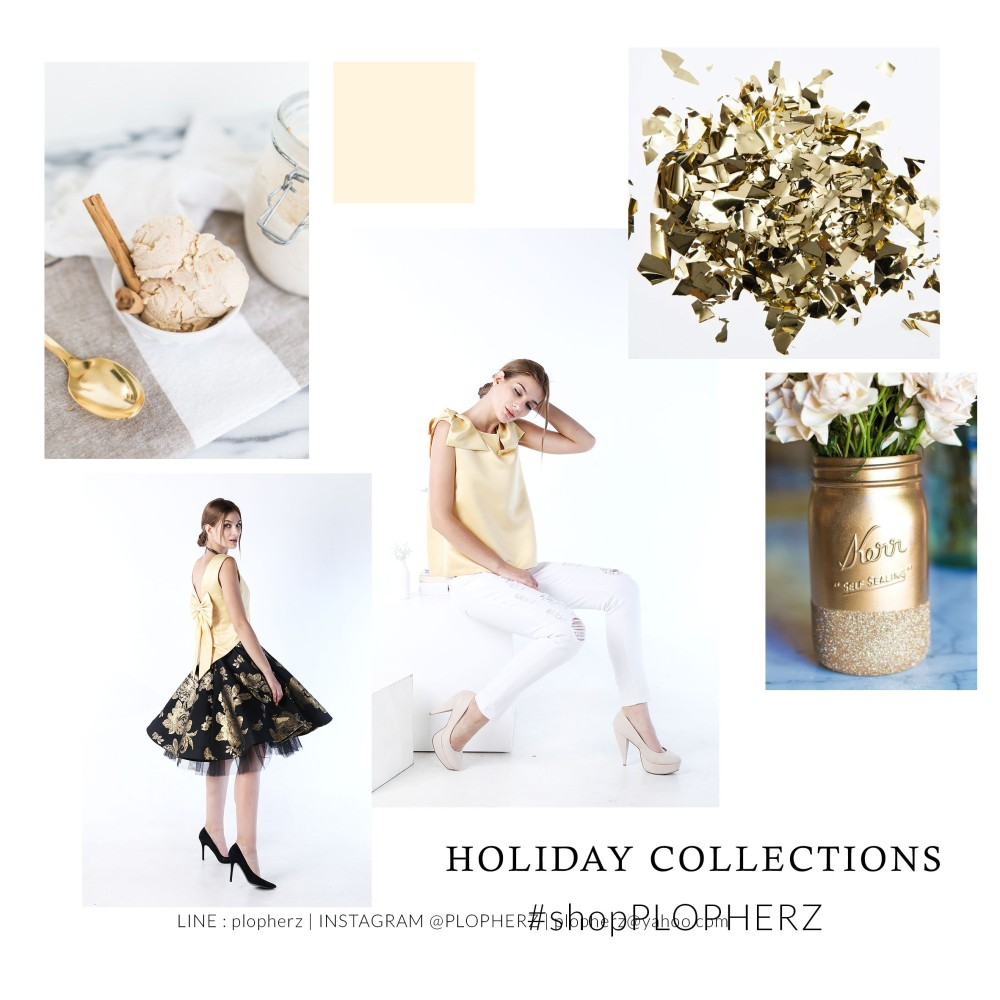 holiday collections moodboard GOLD