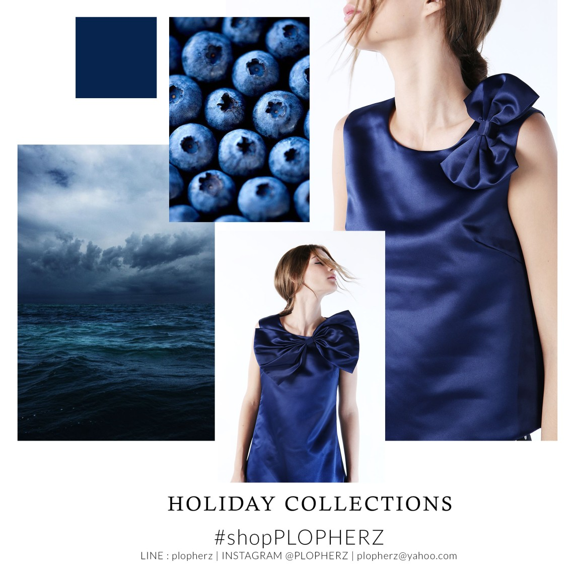 holiday collections moodboard NAVY