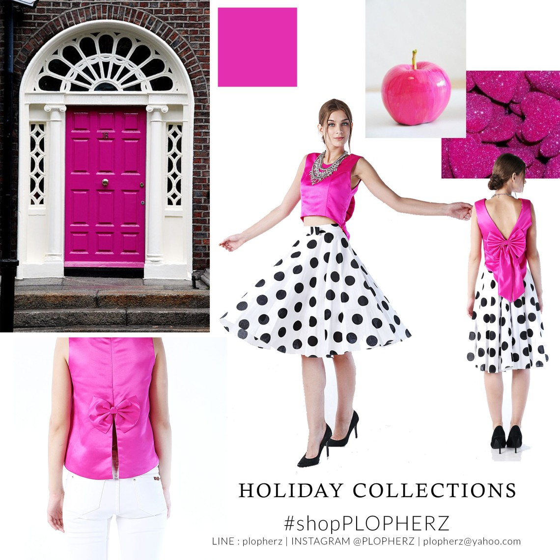 holiday collections moodboard PINK