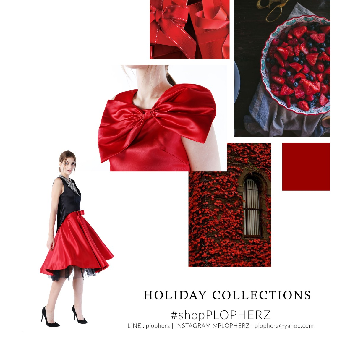 holiday collections moodboard RED
