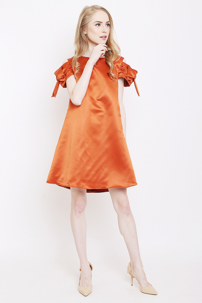 Terracotta color dress